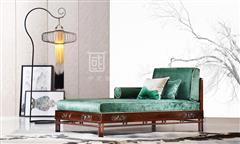 地天泰·國風 納風轉角沙發貴妃位 新中式家具 黑酸枝 客廳系列