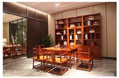 地天泰·國頌 1.46和風1號茶臺 緬甸花梨(大果紫檀)茶桌 客廳系列 休閑系列 新中式紅木家具 時尚簡約
