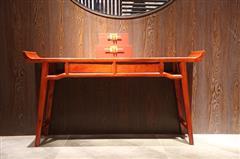 地天泰·国颂 1.46米和悦翘头案 缅甸花梨(大果紫檀)条案 新中式家具 红木家具 时尚简约 客厅系列