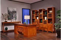 美联家私 红木书桌 书房家具 海棠话语·书房系列