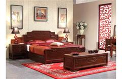 美联家私 红木大床 明典如意双人床