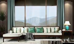 地天泰·国雅 明韶转角沙发 新亚博体育苹果客户端家具 非洲紫檀 客厅系列