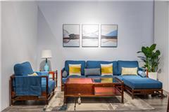 名作现代新中式家具 刺猬紫檀 新中式家具 红木家具 中式家具 中式客厅 客厅系列 素在转角沙发