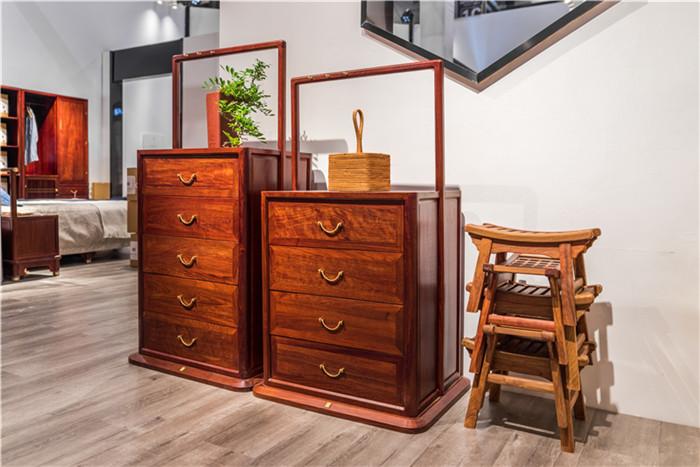 名作现代新中式家具 刺猬紫檀 新中式家具 红木家具 中式家具 中式书房 书房系列 客厅系列 休闲系列 静观斗柜