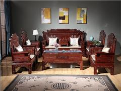 东源红木中式古典国标红木红酸枝绒毛黄檀客厅财源滚滚沙发113款123款11件套7件套