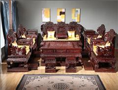东源红木中式古典国标红木红酸枝绒毛黄檀客厅豪华大款鸳鸯宝座沙发31件套