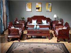 东源红木中式古典国标红木红酸枝绒毛黄檀客厅和和美美沙发113款123款11件套7件套