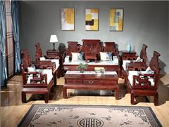 东源红木中式古典国标红木红酸枝绒毛黄檀客厅卷书沙发113款123款11件套7件套