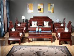 东源红木中式古典国标红木红酸枝绒毛黄檀客厅新卷书沙发113款123款11件套7件套