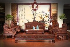 木缘红木 老挝大红酸枝沙发(学名交趾黄檀) 大红酸枝事事如意沙发13件套 酸枝沙发 明清古典沙发 中式客厅 中式红木沙发 客厅系列