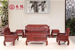 木缘红木 小叶红檀沙发(学名红铁木豆) 小叶红檀109沙发6件套(123) 红檀沙发 新古典沙发 中式客厅 中式实木沙发 客厅系列