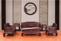 木缘红木 印尼黑酸枝沙发(学名阔叶黄檀) 黑酸枝彩云沙发6件套(123) 黑酸枝沙发 新古典沙发 中式客厅 中式红木沙发 客厅系列