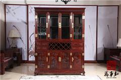 万事红 国标红木 中式古典 微凹黄檀 红酸枝 餐厅 酒吧 会所 酒柜