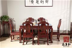 万事红 国标红木 中式古典 微凹黄檀 红酸枝 餐厅 事事如意餐桌