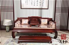 万事红 国标红木 中式古典 微凹黄檀 红酸枝 客厅 书房 休闲 明式罗汉床