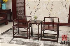 万事红 国标红木 中式古典 微凹黄檀 红酸枝 休闲书房 禅意 梳椅3件套