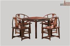 波记家具 老挝大年夜红酸枝圈椅(学名交趾黄檀) 休闲椅5件套 高端红木家具 明清古典艺术家具 安康环保家具 休闲客堂圈椅系列