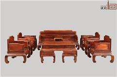 波记家具 老挝大红酸枝沙发(学名交趾黄檀) 明式独板沙发13件套 独板红木家具 健康环保家具 明式家具沙发 客厅沙发系列