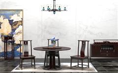 汉府家具 红木家具印尼黑酸枝(学名:阔叶黄檀)新古典非常道餐厅组合中式餐厅