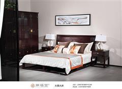 紫福堂红木 赞比亚紫檀 新古典风格 大乘大床