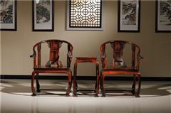云林堂红木-中式风格-古典风格-国标红木-老挝大红酸枝(交趾黄檀)-榫卯工艺-客厅大堂-皇宫椅三件套