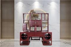 云林堂红木-中式风格-新中式风格-国标红木-赞比亚紫檀-血檀(染料紫檀)-榫卯工艺-书房办公室-新中式书房