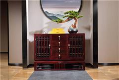 沽之大匠 贊比亞紫檀 血檀 東方傳承餐邊柜 新中式紅木家具 客廳餐廳系列 現代中式家具