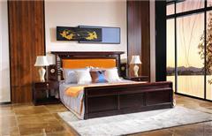沽之大匠 赞比亚紫檀 血檀 东方传承大床 新中式红木大床 卧室套房系列 现代中式家具