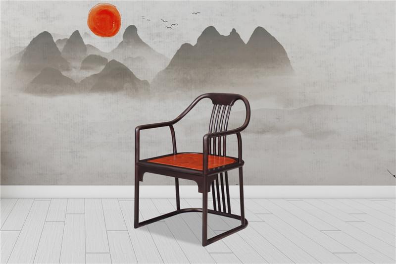 海强红木 东方之信 刺猬紫檀 红木家具 中式家具 新中式家具 椅凳系列 惊鸿圈椅
