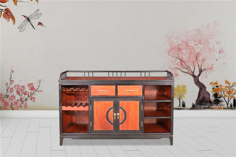 海强红 木东方之信 刺猬紫檀 红木家具 中式家具 新中式家具 中式餐厅 餐厅系列  惊鸿餐边柜
