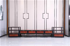 海強紅木 東方之信 刺猬紫檀 紅木家具 中式家具 新中式家具 中式客廳 客廳系列 哲璽三組合電視柜