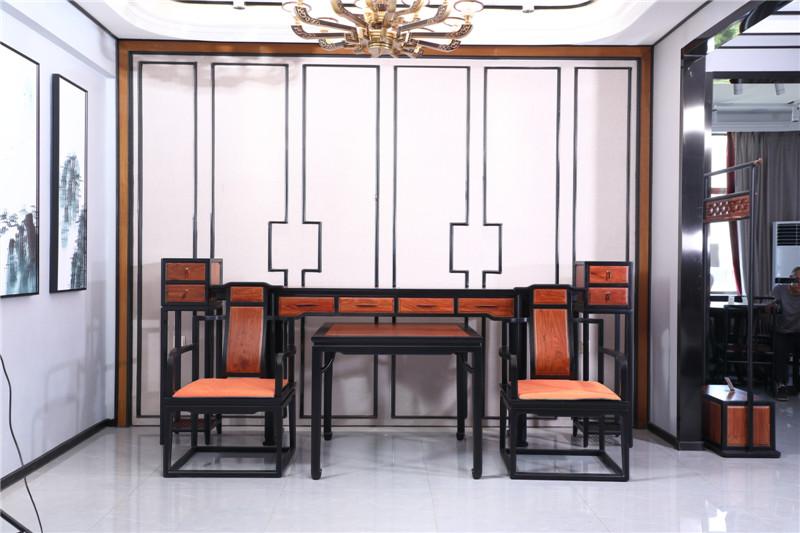 海强红木 东方之信 刺猬紫檀 红木家具 中式家具 新中式家具 中式客厅 客厅系列 哲玺中堂
