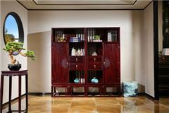 沽之大匠 赞比亚紫檀 血檀 东方传承书柜 新中式红木书架  办公书房系列 现代中式家具