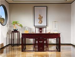 沽之大匠 赞比亚紫檀 血檀 东方传承书桌 新中式红木书柜  办公系列 书房系列 现代中式家具