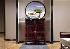 沽之大匠 赞比亚紫檀 血檀 东方传承休闲柜 新中式红木鞋柜  客厅休闲系列 现代中式家具