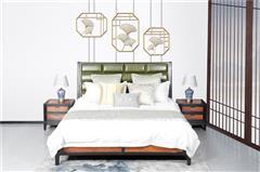 海强红木 东方之信 刺猬紫檀 红木家具 中式家具 新中式家具 中式卧房 卧房系列  哲玺大床