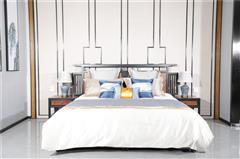 海强红木 东方之信 刺猬紫檀 红木家具 中式家具 新中式家具 中式卧房 卧房系列  至乐大床