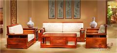 东成红木 新古典红木家具 缅甸花梨沙发(1+1+2) 香茗一号沙发 红木客厅系列