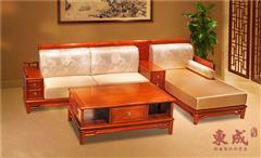 东成红木 新古典红木家具 缅甸花梨转角沙发 香茗转角沙发3号 红木客厅系列