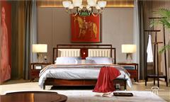 东成红木 东成·文宋 黑酸枝大床 博文大床 当代中式家具 阔叶黄檀新中式家具 新中式卧室系列