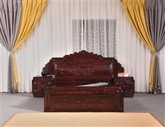 展邦红木 阔叶黄檀 古典家具 中式家具 红木家具 中式卧房 红木大床 卧房系列 鸿运床