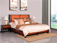8海强红木东方之信 刺猬紫檀 红木家具 中式家具 新中式家具 中式卧房 卧房系列 惊鸿大床