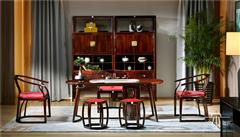 东成红木 东成·文宋 黑酸枝茶台 和风茶台  当代中式家具 阔叶黄檀新中式 新中式茶室系列
