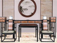 海强红木东方之信 刺猬紫檀 红木家具 中式家具 新中式家具 中式客厅 客厅系列 惊鸿中堂