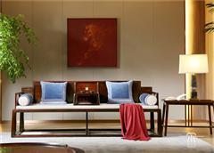 東成紅木 東成·文宋 黑酸枝羅漢床  望岳羅漢床  當代中式家具 闊葉黃檀新中式 新中式客廳系列
