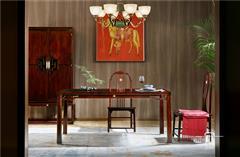 东成红木 东成·文宋 黑酸枝餐台  文雅餐台  当代中式家具 阔叶黄檀新中式 新中式餐厅系列