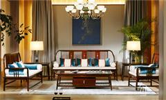 東成紅木 東成·文宋 黑酸枝沙發  文雅沙發  當代中式家具 闊葉黃檀新中式 新中式客廳系列