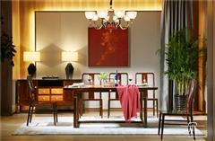 東成紅木 東成·文宋 黑酸枝餐臺  知境餐臺  當代中式家具 闊葉黃檀新中式 新中式餐廳系列
