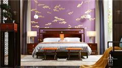 東成紅木 東成·文宋 黑酸枝大床  知境大床  當代中式家具 闊葉黃檀新中式 新中式臥室系列