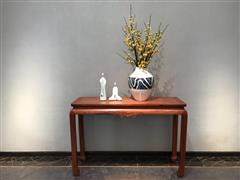 卢家艺林 红木家具缅甸花梨(学名:大果紫檀)新中式家具汉尊祥云20、133条案